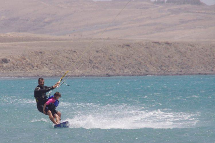 father-son-kitesurfing