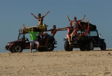 Kitesurfing in Cumbuco, Brazil